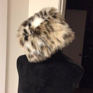 Faux Snow Leopard Hat